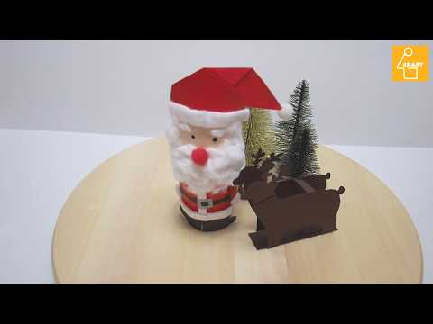 how to make DIY paper santa and rudolph / kids craft for christmas