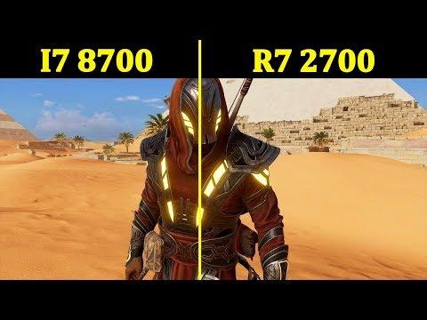 (STOCK) R7 2700 vs I7 8700   Comparison  