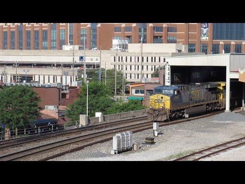 6/24-25/2016 Railfanning at the Indianapolis Amtrak Union Station Parking Garage
