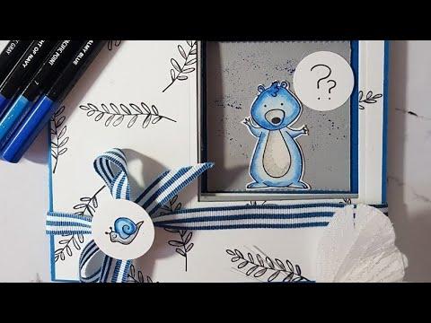 Peek a boo kids birthday card/ Geburtstagskarte mit Produkten von Stampin Up