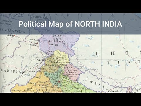 Political Map of North India | Indian Geography (Mapping) Free Course