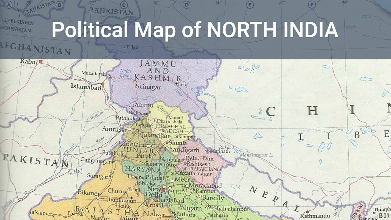 Political Map Of North India Indian Geography Mapping Free