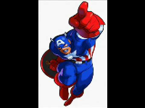 captain america theme marvel super heroes vs street fighter music youtube. Black Bedroom Furniture Sets. Home Design Ideas