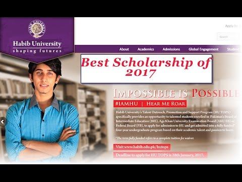 Scholarship 2017 [Fully-Funded]