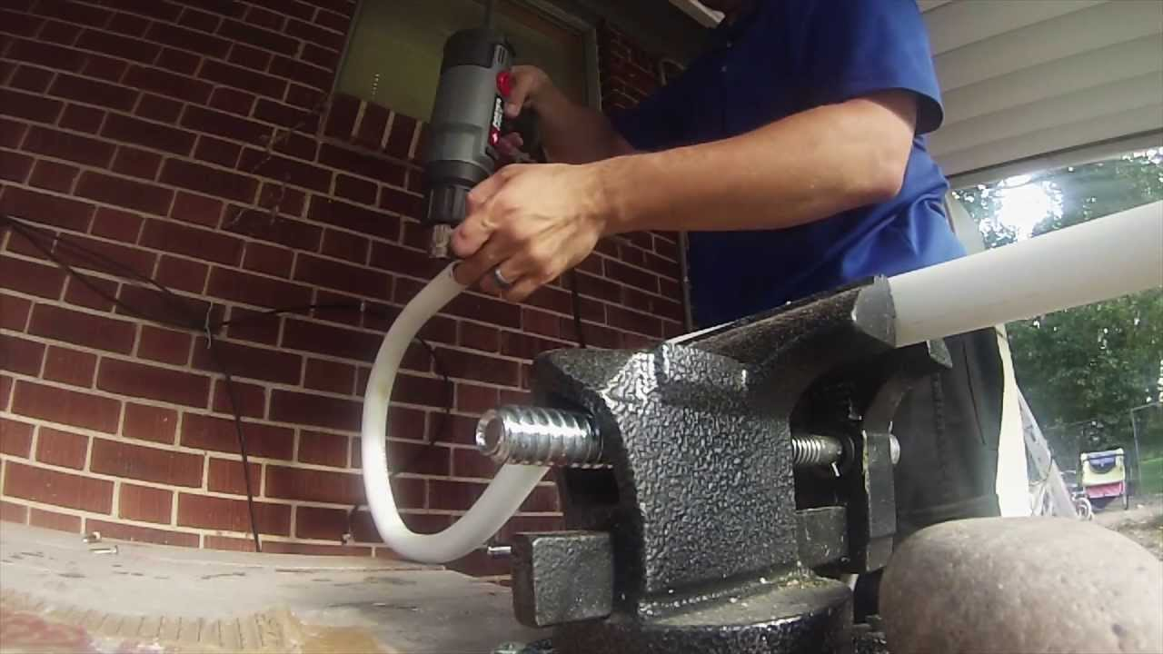 Bending PVC Pipe with a Heat Gun - YouTube