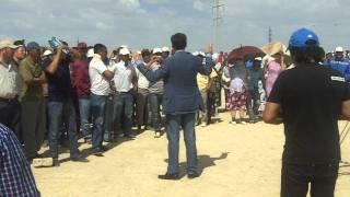 Выступление Булата Абилова перед бастующими