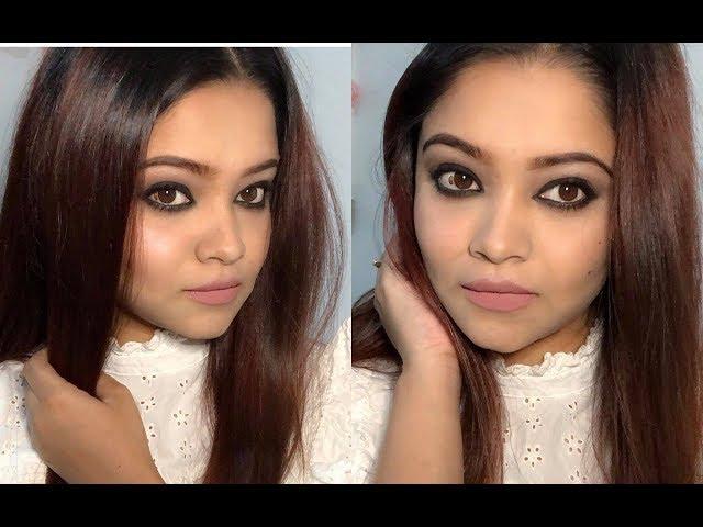 Simple er moddhe gorgeous eye makeup ; ](how I apply Kajal)