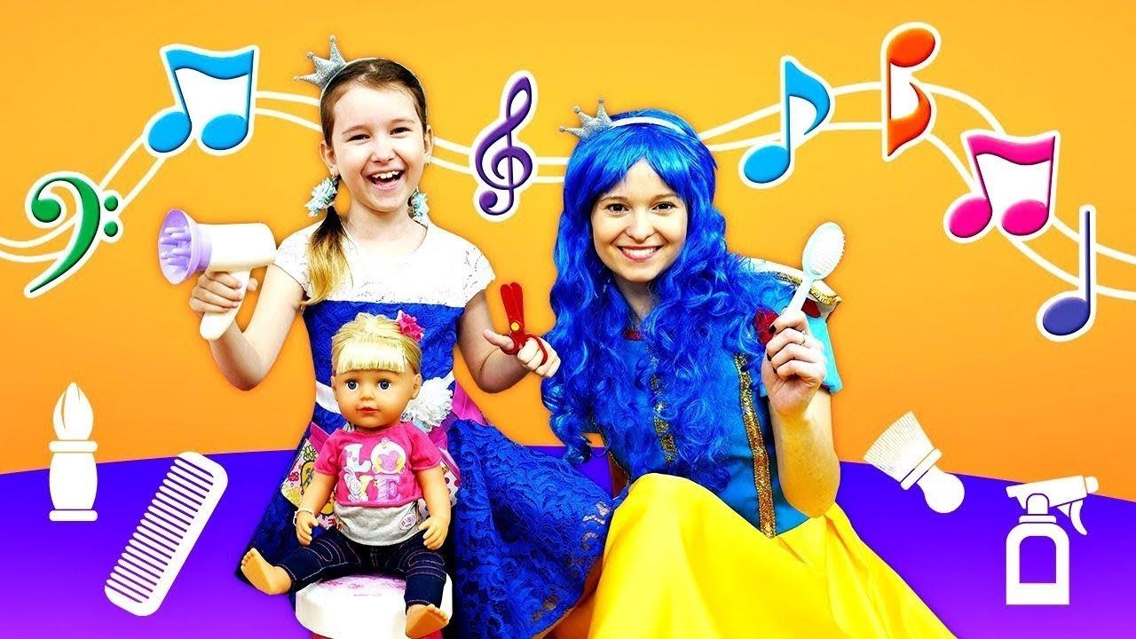 Веселые песенки для детей. Делаем прическу для куклы Беби Бон! Детские клипы подряд все песенки