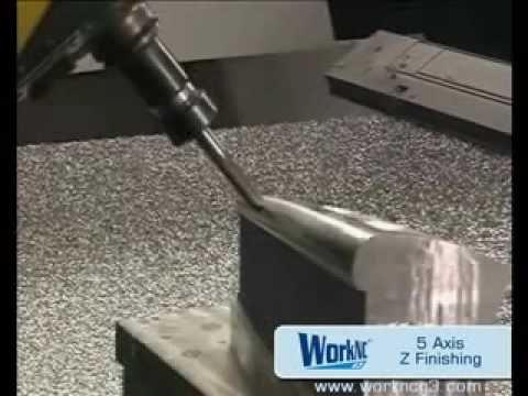WorkNC 5 axis toolpaths