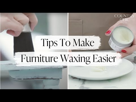 How To Wax Furniture Making Wax Easier To Work With Country Chic Paint Natural Wax Youtube