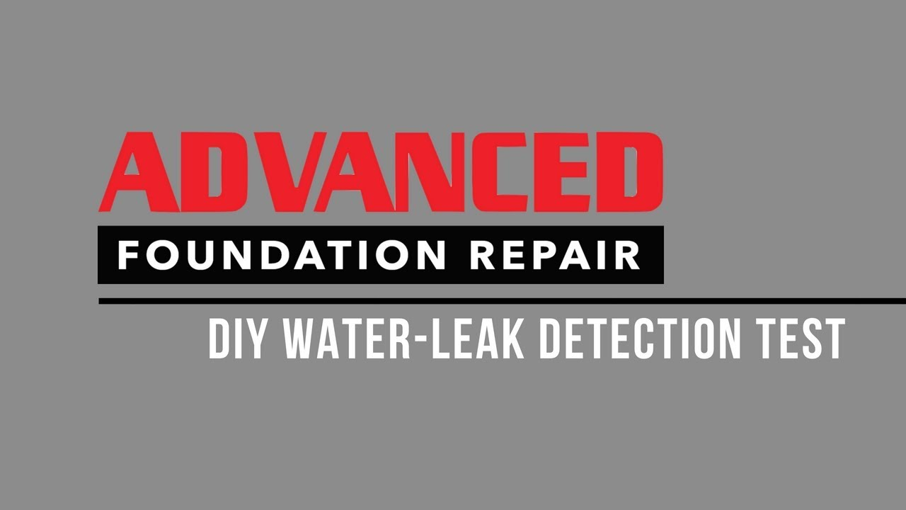 Diy Water Leak Detection Test Demo