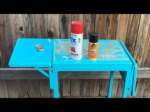 How To Paint Decorate Typewriter Table Project