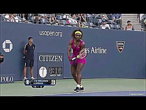 Serena Williams vs Sara Errani 2012 US Open Highlights