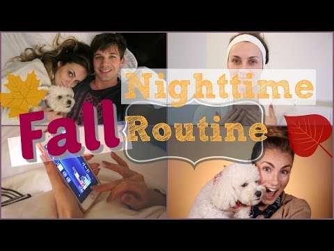 My Fall Night Routine 2016  Get Unready with Me  Angela Lanter