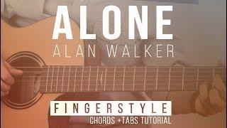 [NEW GUITAR ] Alan Walker - Alone | Fingerstyle Acoustic Tabs Tutorial