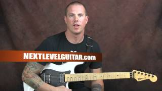 Learn heavy metal style riffing Pantera inspired guitar lesson song drop D tuning rhythms