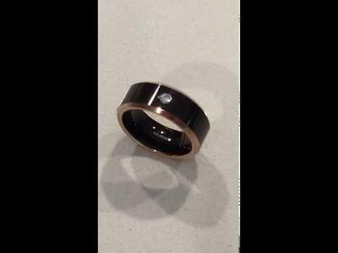 Men's Anniversary Tungsten Promise Ring