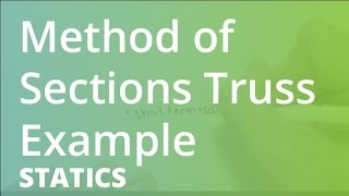 Method Of Sections Truss Example | Statics