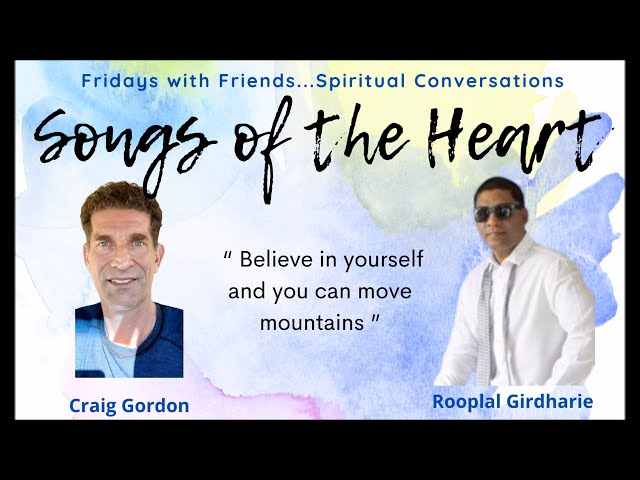 Fridays Conversation 'Songs of the Heart' with Singer Rooplal Girdharie & Craig Gordon