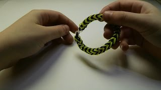 Простой браслет из резинок Урок 1