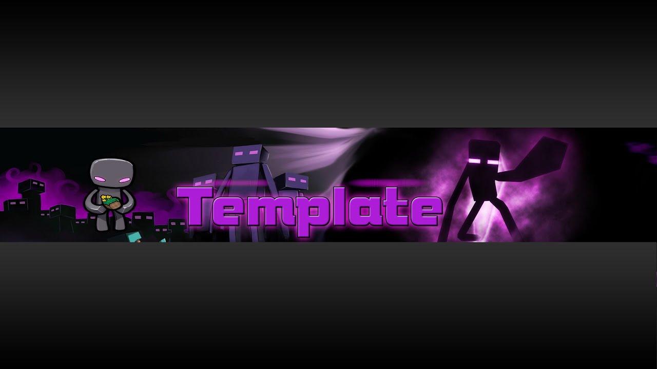 Template de Banner Estilo: Minecraft Tema: Enderman [Special 100 ...