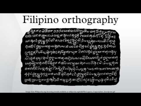 Filipino orthography