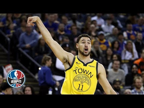 Klay Thompson drops 43 points on Knicks in Warriors' win | NBA Highlights
