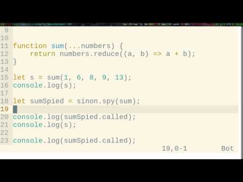 Unit testing - Spies and Mocks with Sinon - YouTube