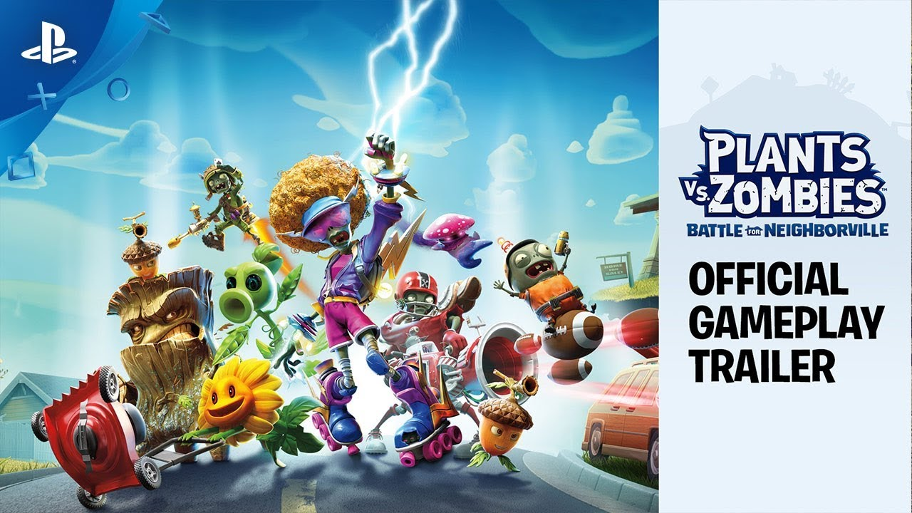 Plants vs  Zombies: Battle for Neighborville - Official Gameplay Trailer |  PS4