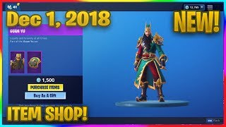 *NEW* GUAN YU SKIN IN FORTNITE! | Fortnite Item Shop (Dec 1, 2018)