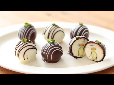 クリーム�ーズ・�ョコトリュフ�作り方&ラッピング Cream Cheese Chocolate Truffle HidaMari Cooking