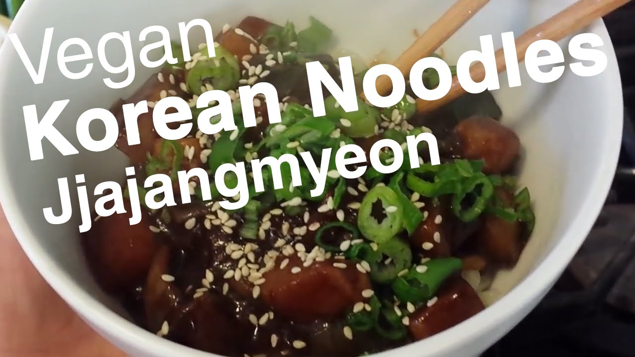 Korean noodles w vegan black bean sauce jjajangmyeon korean noodles w vegan black bean sauce jjajangmyeon recipe le tour de plants youtube forumfinder Choice Image