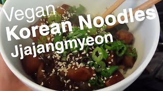 Korean Noodles W Vegan Black Bean Sauce (jjajangmyeon: 짜장면) Recipe - 1vidaday