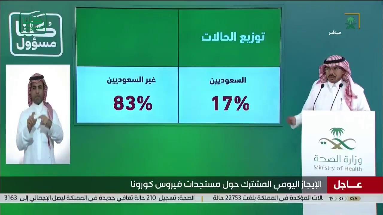 كم حالات كورونا في السعودية اليوم