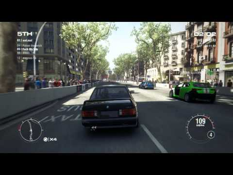 GRID 2 PC Multiplayer Race Gameplay: Tier 1 Upgraded BMW M3 E30 Sport Evo in Barcelona
