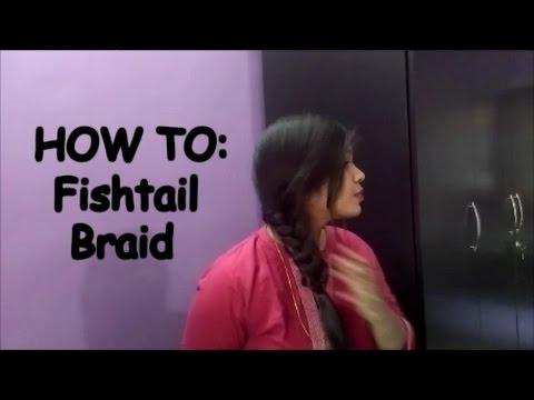 Fishtail Braid Full Tutorial - YouTube