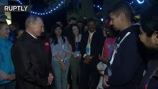 'Pinch me if you don't believe I'm real' – Putin to intl student