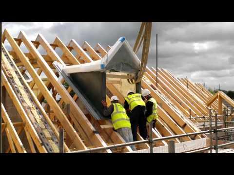 Wonderful Homes - Dormer Roofs Craned In On 5 New Homes We're Building On Gospel Lane, Birmingham
