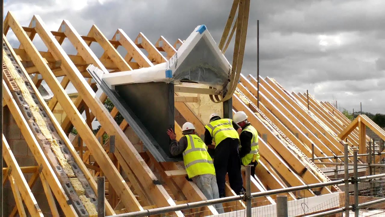 Wonderful Homes Dormer Roofs Craned In On 5 New Homes We