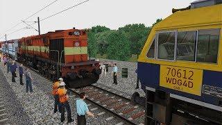 WDM3D Rajdhani Express Loco Failed Rescue By WDG4D | Train Simulator 2019 | Indian Railways