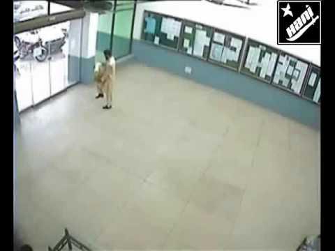 Man Walks Through Glass Door Youtube