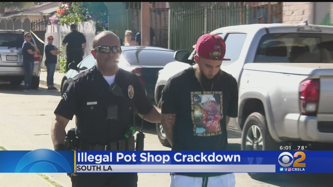 LAPD Cracks Down On Illegal Marijuana Shops