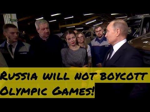 Putin: Despite Political Ban, Russia Will Not Boycott Winter Olympic Games