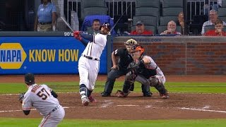 SF@ATL: Markakis collects four hits vs. Giants