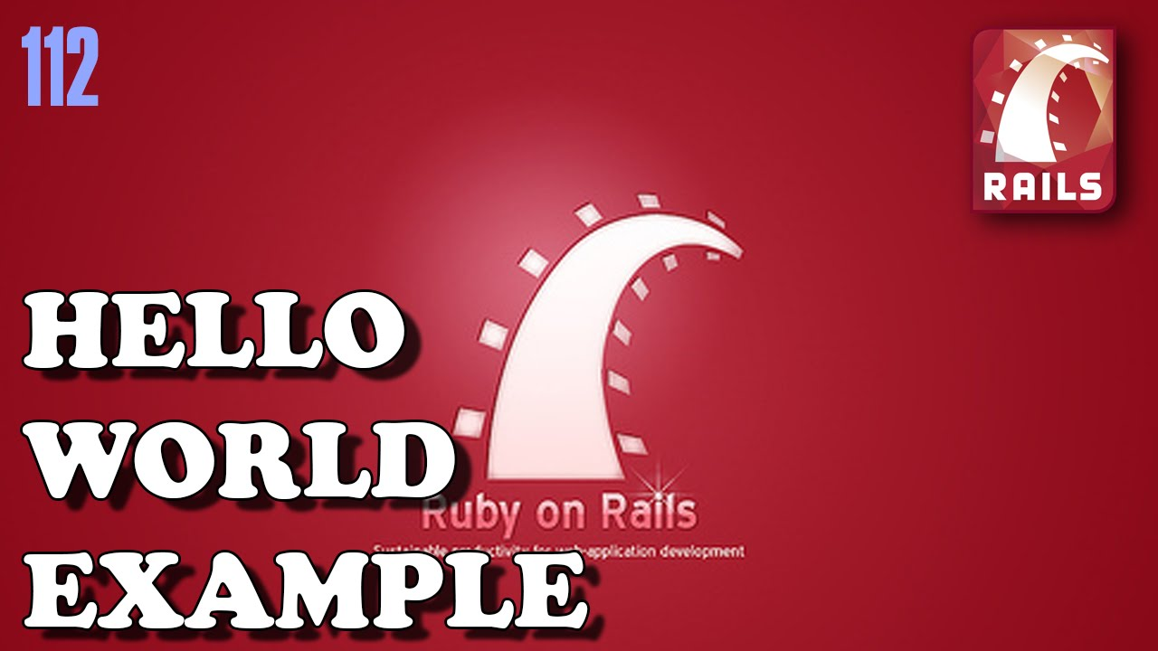 RUBY ON RAILS Hello World example