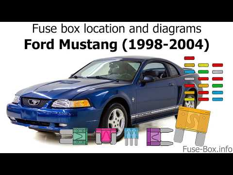fuse box location and diagrams: ford mustang (1998-2004) - youtube  youtube