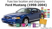 Fuse Box Location And Diagrams Ford Mustang 1996 1997 Youtube