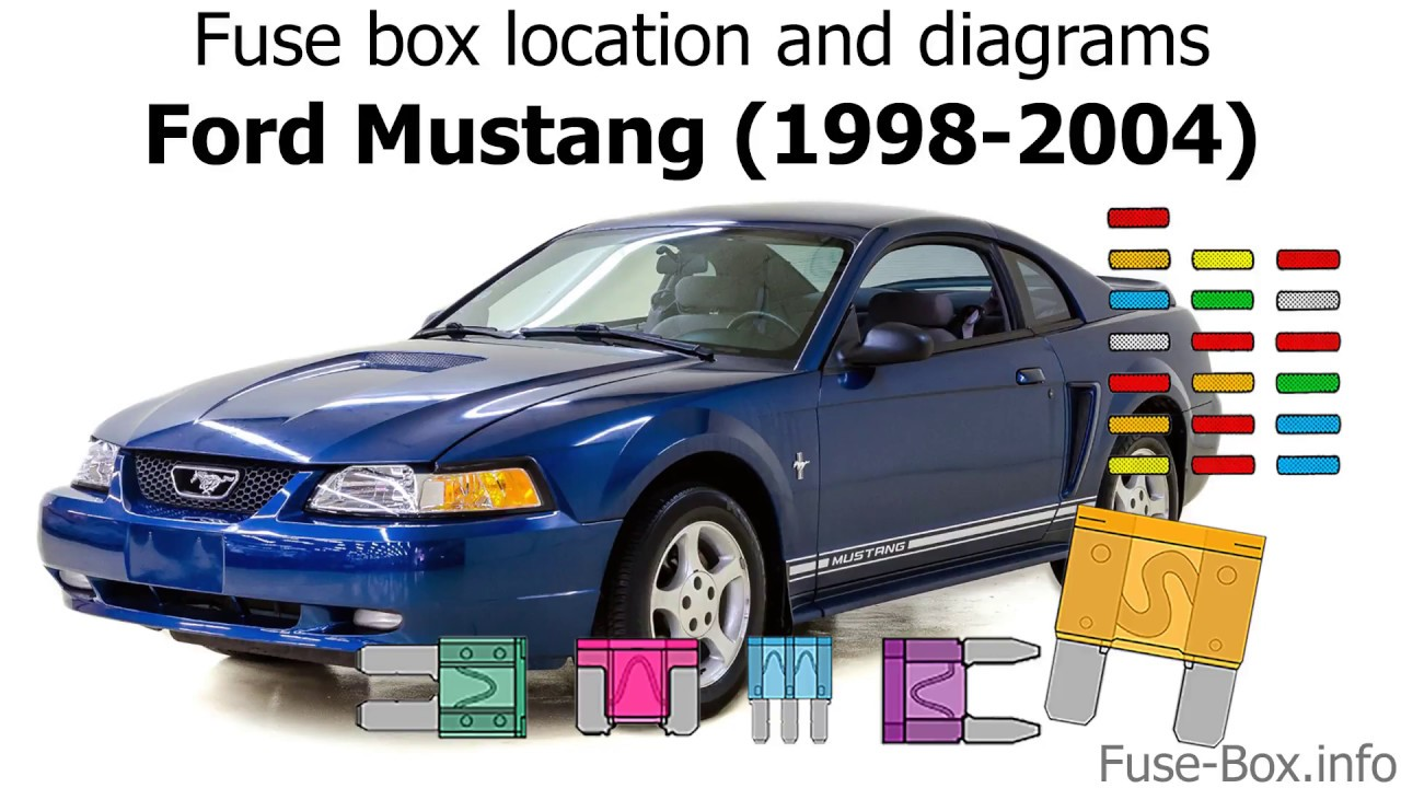 Fuse box location and diagrams: Ford Mustang (1998-2004) - YouTube | 98 3 8 Ford Mustang Fuse Box Diagram |  | YouTube