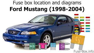 [SCHEMATICS_4PO]  Fuse box location and diagrams: Ford Mustang (1998-2004) - YouTube | Ford Mustang 2004 Fuse Box |  | YouTube