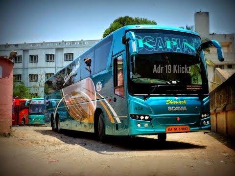 KPN Scania HD Metrolink 14.5M Multiaxle A/C SemisleeperBus/Bangalore - Madurai/India